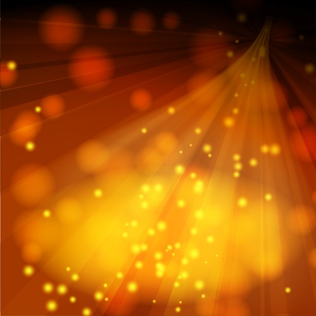 lighted: Abstract brown background with lighted stage and sparkles