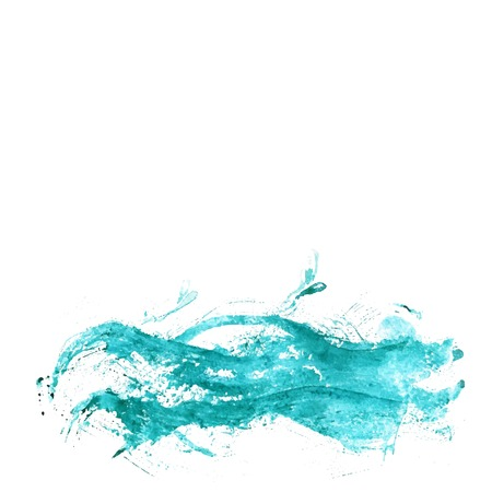 Abstract background with blue grunge watercolor painting like as sea