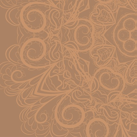 beige background: Abstract floral pattern on neutral beige background