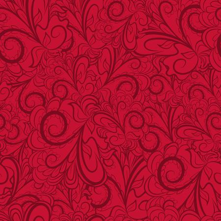 Patrón De Color Rojo Oscuro Abstracto Sin Fisuras Con El Ornamento ...
