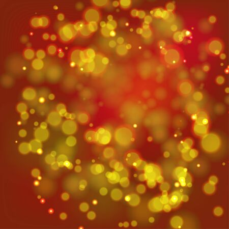 bordo: Abstract pattern with gold lights on red background