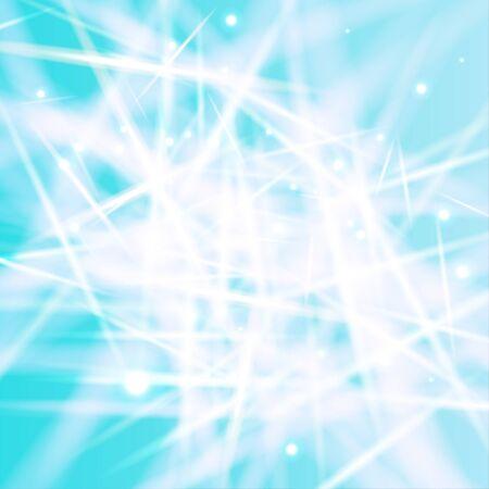 Abstract white-blue background with glares like as crystals of ice