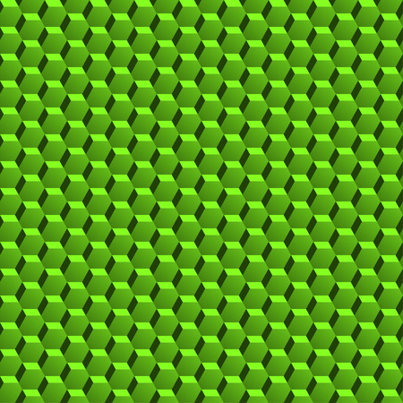 three dimension: Abstract green pattern with three dimension hexagonal texture