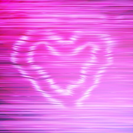 Abstract pink background with horizontal lines and smoke heart