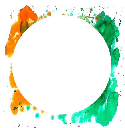 ink stain: Abstract watercolor background. Wet watercolor paint stains. Watercolor frame for your text or design.