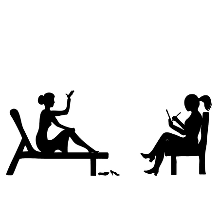 Silhouette image of surgery of a psychologist.
