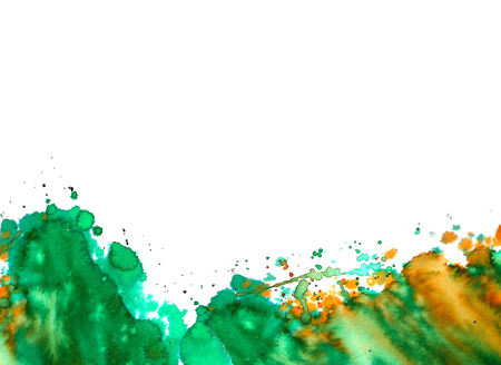 Abstract watercolor background. Wet watercolor paint stains. Stock Photo