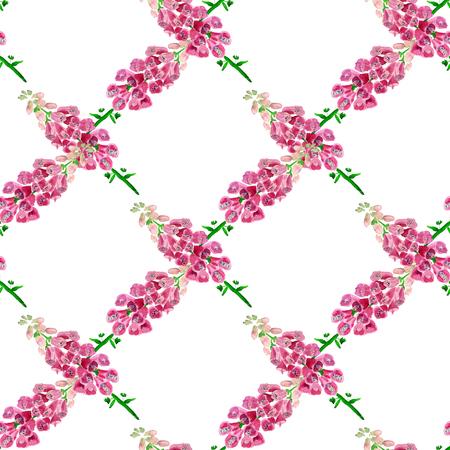 Nahtloses Muster mit Aquarellbild der Fingerhut. Gut für Textildesign, Geschenkpapier und Website-Tapeten. Standard-Bild - 88528871