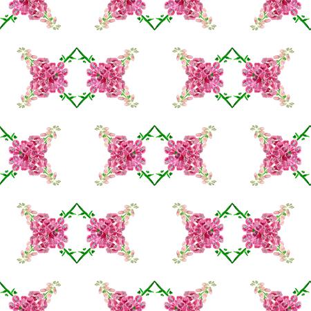 Nahtloses Muster mit Aquarellbild des Fingerhuts. Gut für Textildesign, Geschenkpapier und Website-Hintergründe. Standard-Bild - 88929562