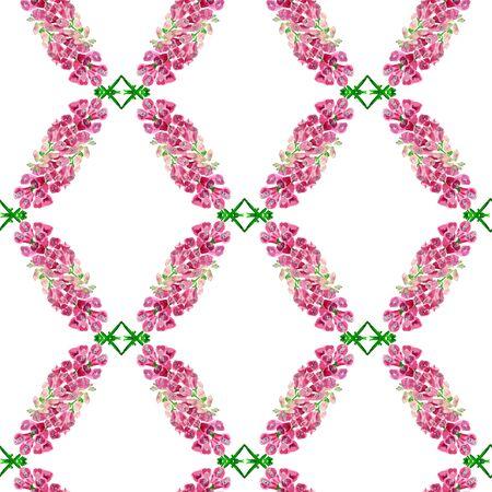 Nahtloses Muster mit Aquarellbild der Fingerhut. Gut für Textildesign, Geschenkpapier und Website-Tapeten. Standard-Bild - 88929571