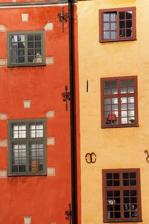 Historical buildings in the old town of Stockholm Stock Photo