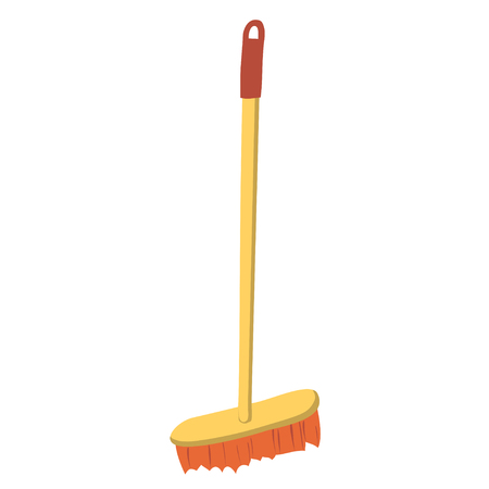 Cartoon illustration with mop isolated on white background. Household equipment. Cleaning service concept.