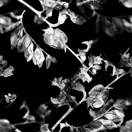Seamless pattern with garden vetch.