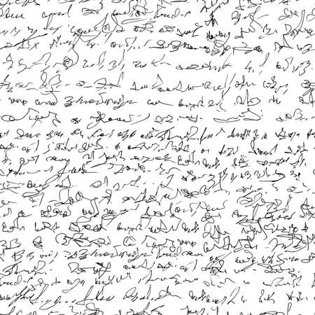Seamless patern with imaginary abstract handwritten text.