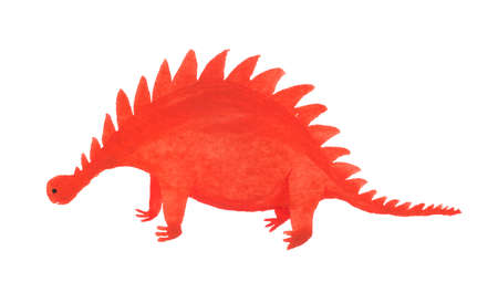 Cartoon dinosaur. Illustration for kids. Watercolor image isolated on white background. Imagens