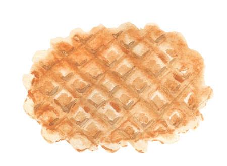 Watercolor image of waffle.