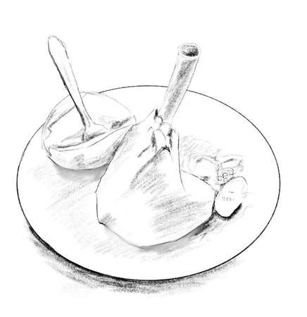 Traditional cyprus roast lamb