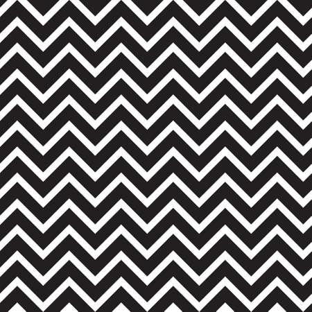 Seamless pattern with black zigzag horizontal stripes