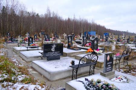 Kovalevo cemetery in the Saint Petersburg, Russia. Editorial