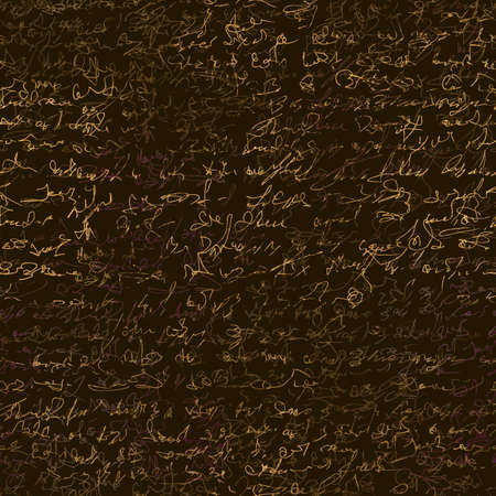 Seamless patern with imaginary abstract handwritten text