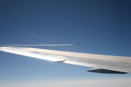 overtaken: Plane is overtaken by another aircraft