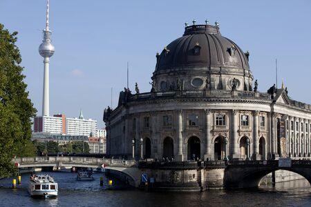 bode: bode museum of berlin alexanderplatz tower in the background