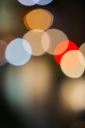 Beautiful bokeh blur lighting effect from heavy city traffic.