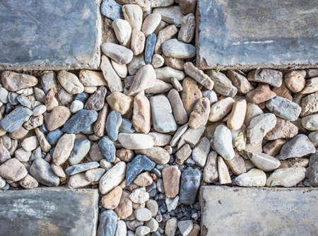 bedrock: Bedrock and ground cement in the garden Stock Photo