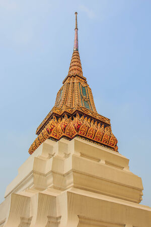 Pagoda at Wat Phra Kaew, Temple of the Emerald Buddha, Bangkok, Thailand  photo