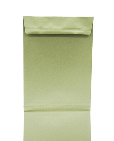 paper bag isolate on a White Background photo