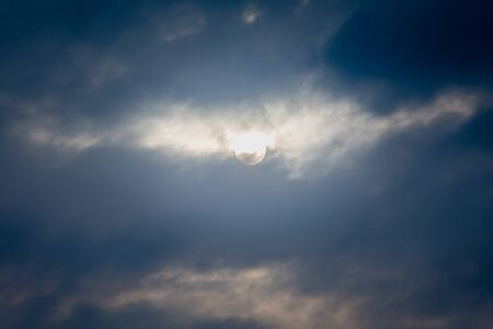 nightime: moon and cloud on sky in the night Stock Photo