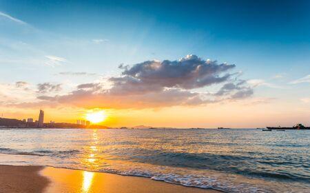 chonburi: beach pattaya in the evening, the province of Chonburi Thailand Stock Photo