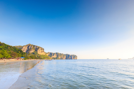 identifiable: Beach and Sea in summer with tourists in Thailand,tourists (Not identifiable).