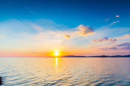 evenings: sunset and sea in summer evenings,Thailand.
