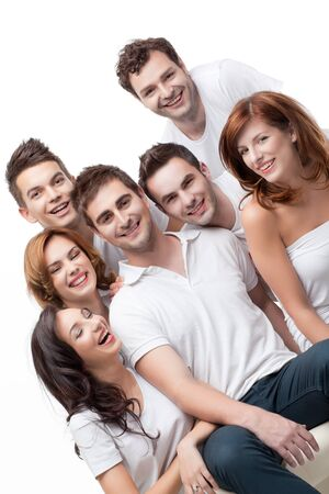 group young people sitting down having fun Stock Photo - 9667710