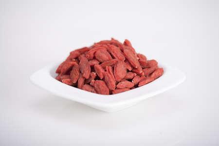 goji: bowl full of healthy antioxidant goji berries