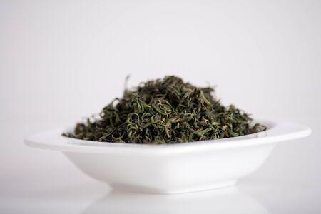 antioxidant: bowl full of healthy antioxidant goji leafs