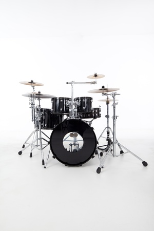 studio image of drums on white background photo