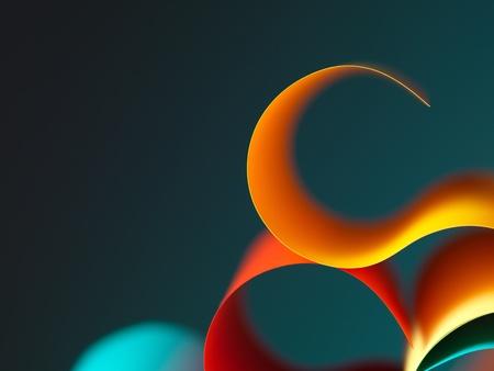 řemeslo: grafický abstraktní obraz barevné origami vzoru ze zakřivených listů papíru