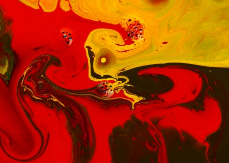 Abstract art with colored pigments fluid Stock Photo - 14181546