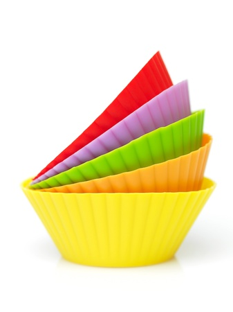 colorful muffins silicone cup photo