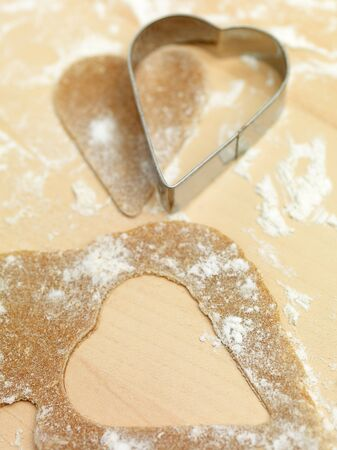 heart gingerbread flour photo