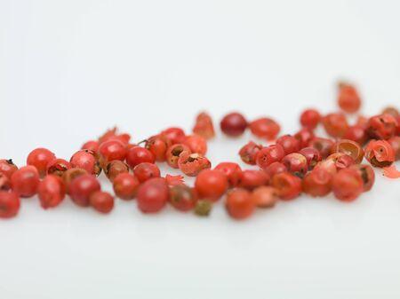 whitw: red peper macro on whitw background