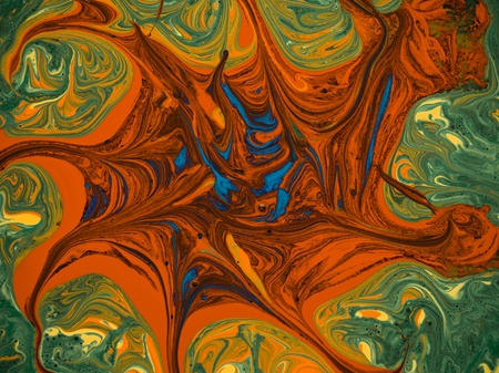 pigments: macro of different colored pigments, psychedelic wallpaper Stock Photo