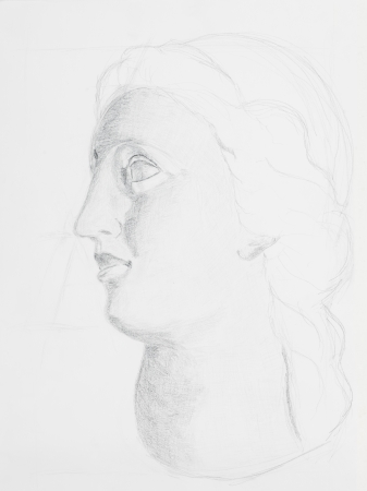 Pencil drawing women portrait on white paper stock photo picture and royalty free image image 23653539