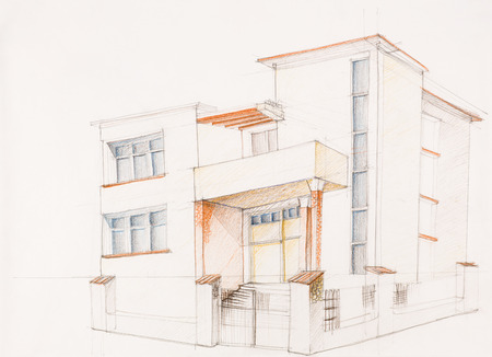 best architecture moderne maison dessin ideas ansomone us - Architecture Moderne Maison Dessin