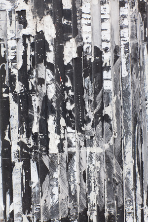 Old corrugated sheet with glue peeling black and white  photo
