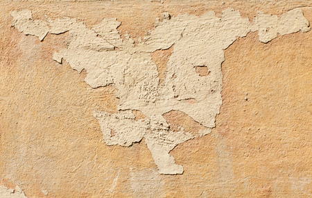 mustiness: old wall texture paint partially exfoliated Stock Photo