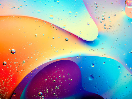 wet wallpaper: beautiful abstract colorful background with oil on water surface
