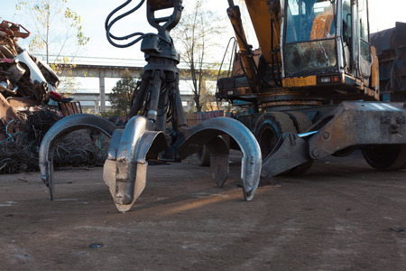 heavy machinery: claw crane heavy machinery equipment Stock Photo